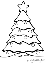 Printable Christmas Tree Coloring Pages Christmas Tree Coloring Worksheet Pages