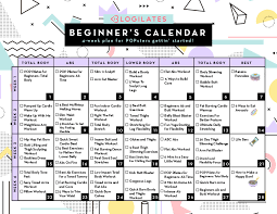 30 Day Leg Challenge Chart A 28 Day Workout Calendar For Beginners Blogilates