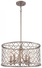 5 light drum chandelier