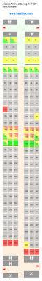 alaska airlines boeing 737 900 739 seat map