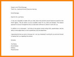 6 Follow Up Letter After Interview Sample Good New World