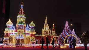 Holiday Brilliant Christmas Lights Moscows New Year Decorations Light Up The Winter Season