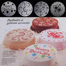 Cake Decorating Accessories Wholesale Wholesale Cake Stencils Spray Mold Printing Sieve Sugarcraft 9
