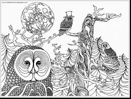 Printable Fantastic Printable Owl Coloring Pages Adult With Free