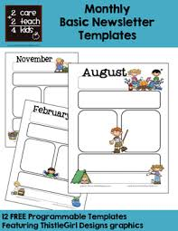 February Newsletter Template Newsletters Free Printable Templates 2care2teach4kids Com