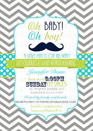 Oh Boy Mustache Baby Shower Invitations Chevron  ZazzlecomBow Tie And Mustache Baby Shower