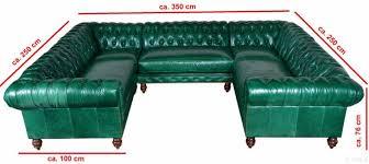 Chesterfield Wohnlandschaft Couch Leder Sofa U Form Big Xxl