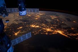 Earth View At Night From Iss Wallpaper ...
