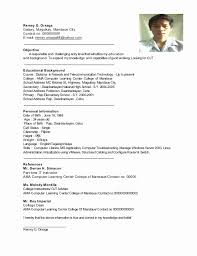 Personal Background Resume Sample