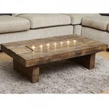 Cube Plank T Light Coffee Table Amazing Design
