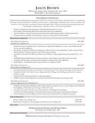 Maintenance Technician Job Description Resume