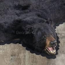 black bear rug rugs 6 foot inch taxidermy