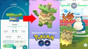 Evolving Lotad Into Ludicolo In Pokemon Go Using Ludicolo In Gyms