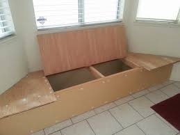 here very own diy built breakfast nook storage bench