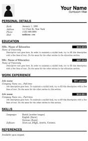 Resume Template Pdf Custom Pdf Resume Template Formatted Templates Example