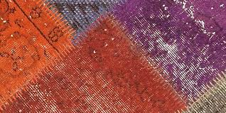 all about overdyed rugs and overdyed patchwork rugs overdyed vintage rugs and patchwork carpets from the source
