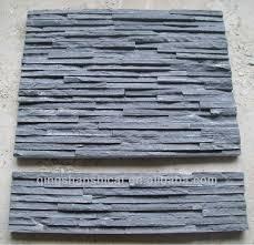 black slate wall cladding stone panel stone veneer sheet