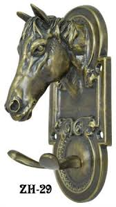 Brass Horse Head Coat Rack Vintage Hardware Lighting Vintage Hooks Cast Iron and Brass 77