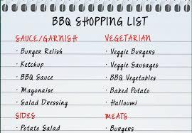 Bbq Shopping List | Mountain Warehouse