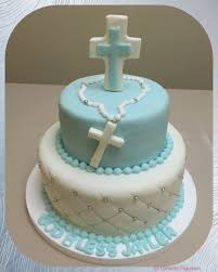 Communion Cake For Boy With Blue Cross Michaels 1st Communion In
