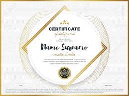 Certificate Vector Template Diploma Design Graduation Achievement