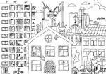 город и улицы раскраски