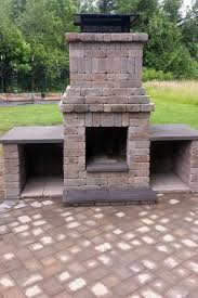 paver patio with fire pit. Perfect Fire Fire Pit And Wood Boxes  In Paver Patio With