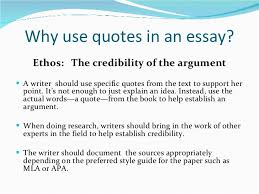 integrating quotes 6 why use quotes in an essay