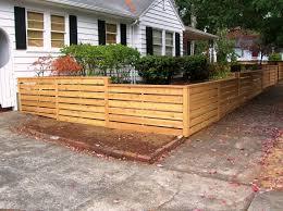 Horizontal Fence Ideas Cedar Posts With 6 Horizontal Pickets Gates
