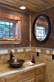 colored corrugated metal siding | Bathroom Wall: 1-1/4