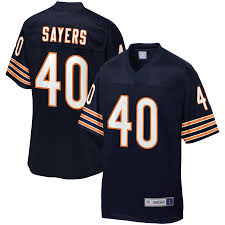 Team Sayers Men's Jersey Line Pro Player Chicago Nfl Navy Retired Gale Bears