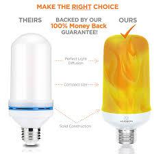 <b>LED</b> Flickering <b>Flame Light</b> Bulbs: E26 Standard Base <b>Flame</b> Bulb ...