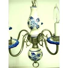 blue delft chandelier chandeliers sold to vintage brass porcelain and white blue delft chandelier chandeliers and white