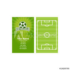 Soccer Business Card Sport Business Card Football Or Soccer Buy This Stock