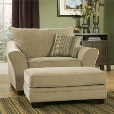 classic creamy oversized accent chair with stripe patterned