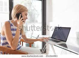 office space computer. Wonderful Office Young Beautiful Woman Working At Home Office Space Using A Smartphone  Mobile Phone To Have For Office Space Computer I