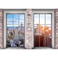 Fenster Nach New York Vlies Foto Wandtapete Xxl Dekoration Runa 9345ap
