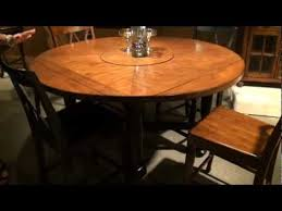 Square to round table Fremarc Designs Delcastle Squareround Convertible Height Dining Table By Riverside Furniture Home Gallery Stores Youtube Delcastle Squareround Convertible Height Dining Table By Riverside