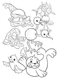 Pokemon Paradijs Kleurplaat Grimer Dodrio Muk Doduo Dewgong Seel