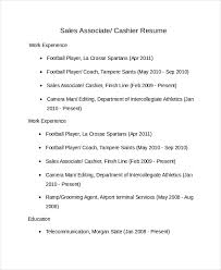 Sales Associate Resume Template 8 Free Word Pdf Document