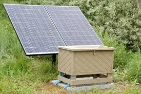 solar aeration installation
