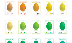 Egg Dye Color Chart Easter Egg Dyeing Chart Shows Every Color Simplemost