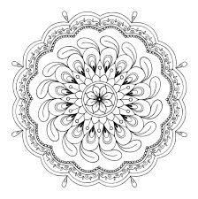 Small Picture Free Mandala Coloring Page