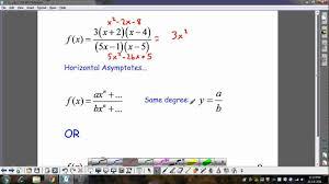 finding vertical horizontal asymptotes wmv