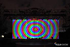 Водный сливной <b>экран</b> для <b>проекции</b> видео контента