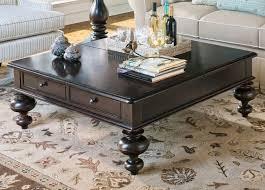 square coffee table dark wood furniture