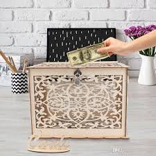 wedding card box with lock baby shower decor wooden gift boxes diy rustic money box graduation birthday evening party decoration supplies make a birthday
