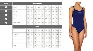 Arena Swim Size Chart Arena Size Chart