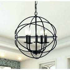 glass sphere chandelier large glass sphere lier spherical metal orb 5 light black inch wood large glass sphere
