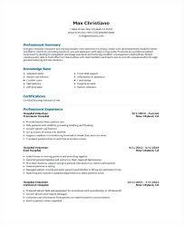 Volunteer Work On Resume Cool Cv Template With Volunteer Work Resume Volunteering Hospital